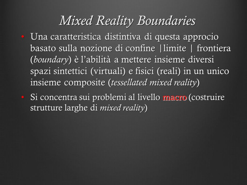 Mixed Reality Boundaries
