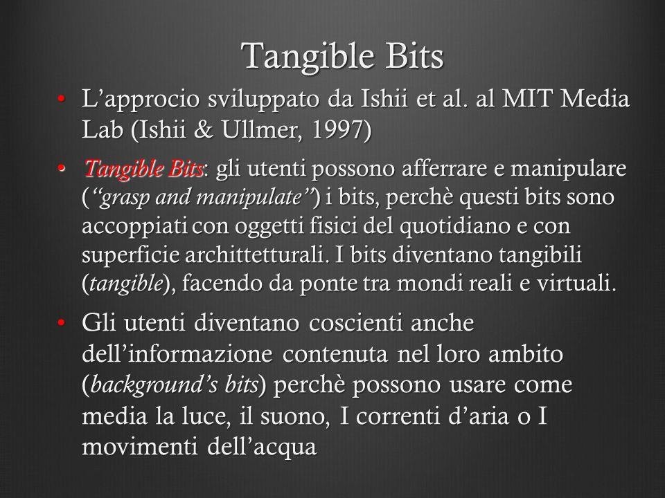 Tangible Bits L'approcio sviluppato da Ishii et al. al MIT Media Lab (Ishii & Ullmer, 1997)