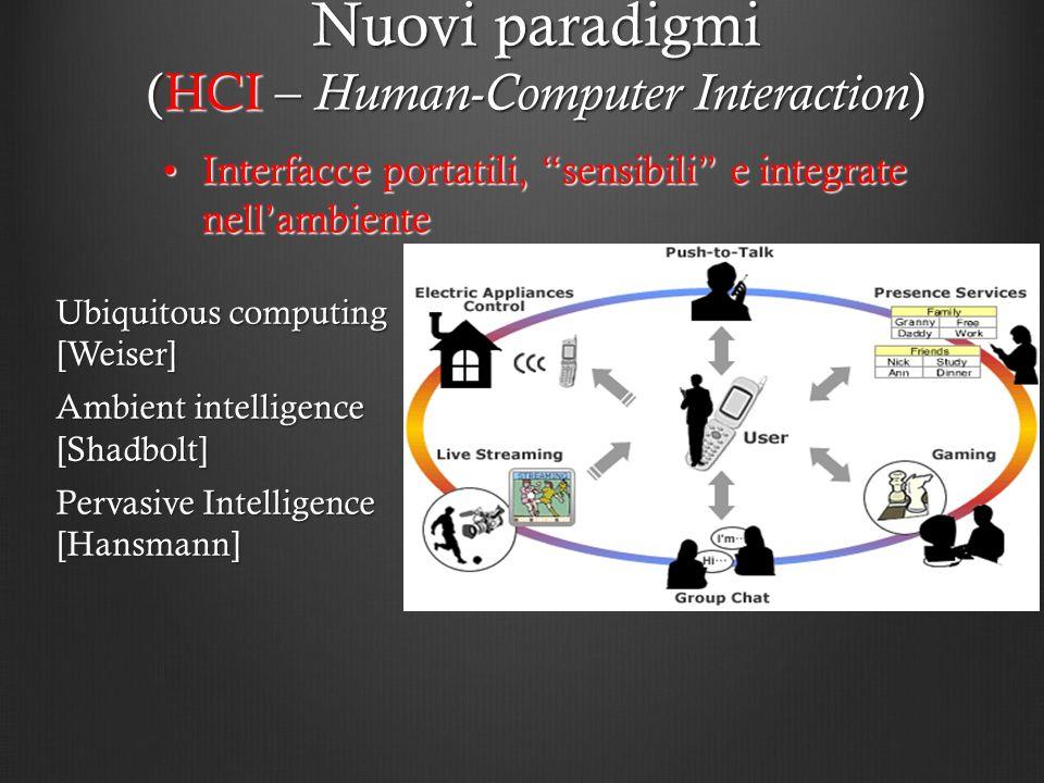 Nuovi paradigmi (HCI – Human-Computer Interaction)