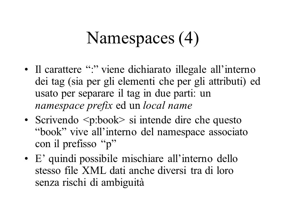 Namespaces (4)