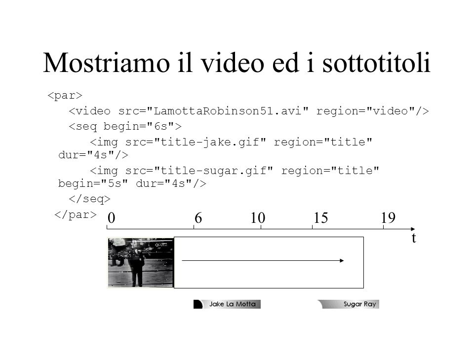 Mostriamo il video ed i sottotitoli