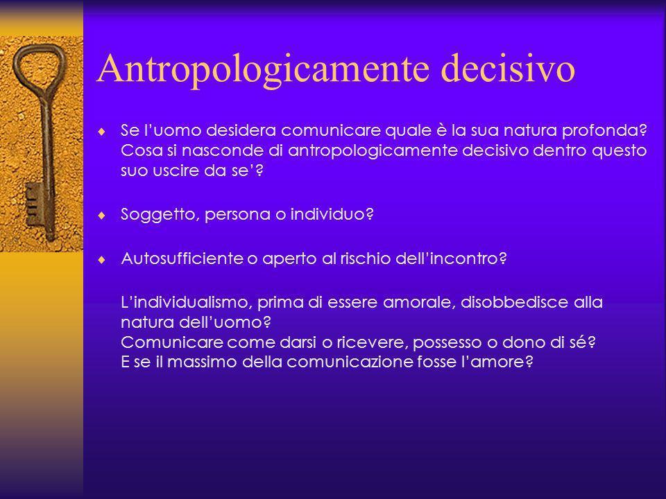 Antropologicamente decisivo