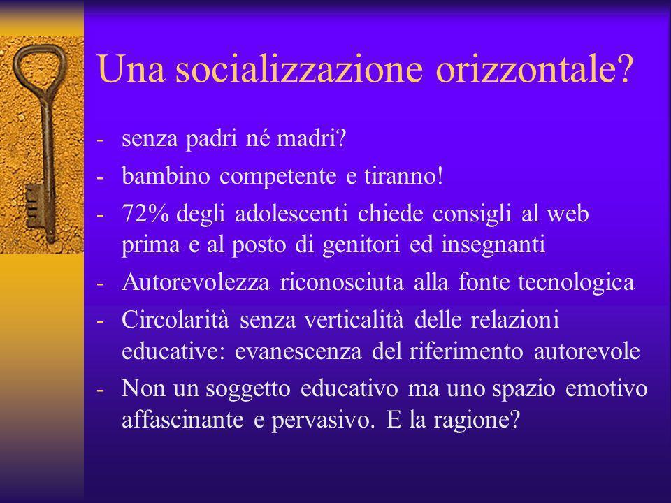 Una socializzazione orizzontale