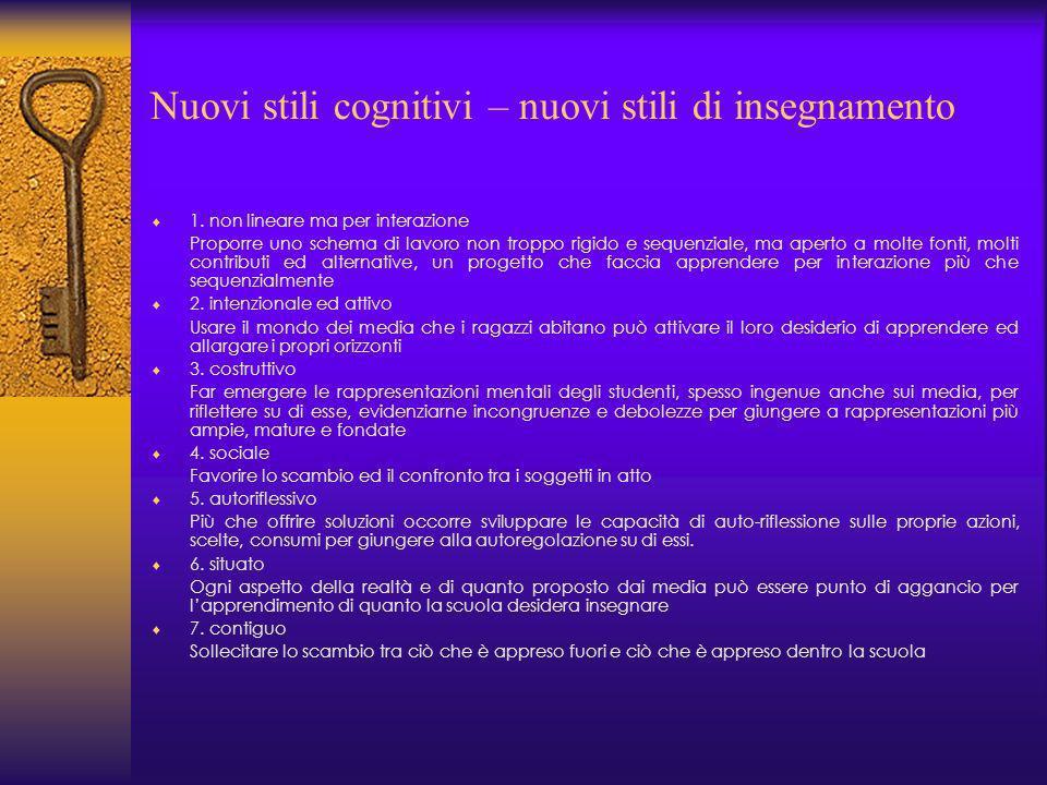 Nuovi stili cognitivi – nuovi stili di insegnamento