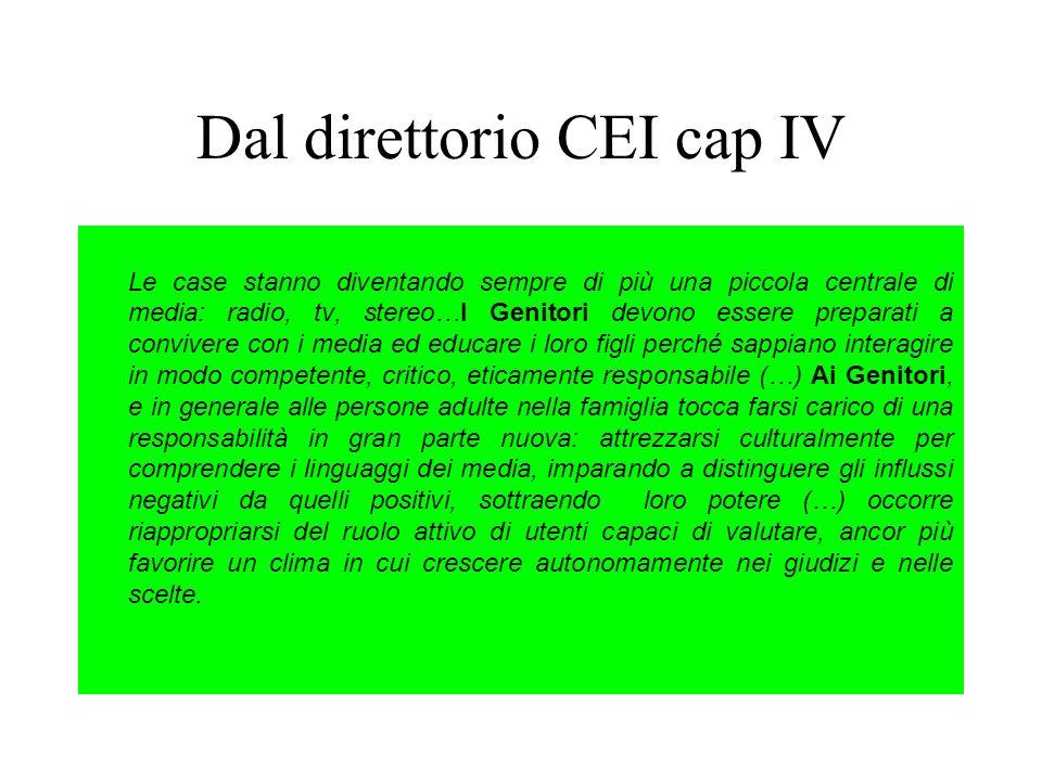 Dal direttorio CEI cap IV