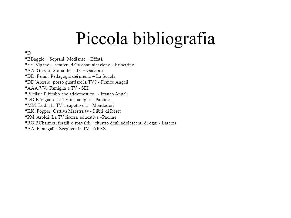 Piccola bibliografia D BBaggio – Soprani: Mediante – Effatà