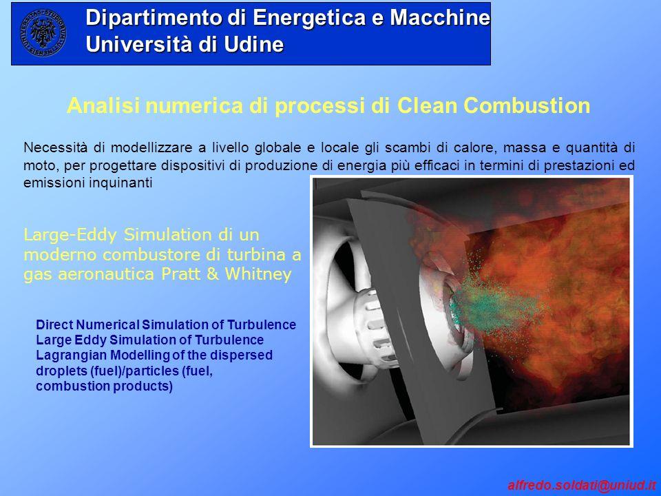 Analisi numerica di processi di Clean Combustion