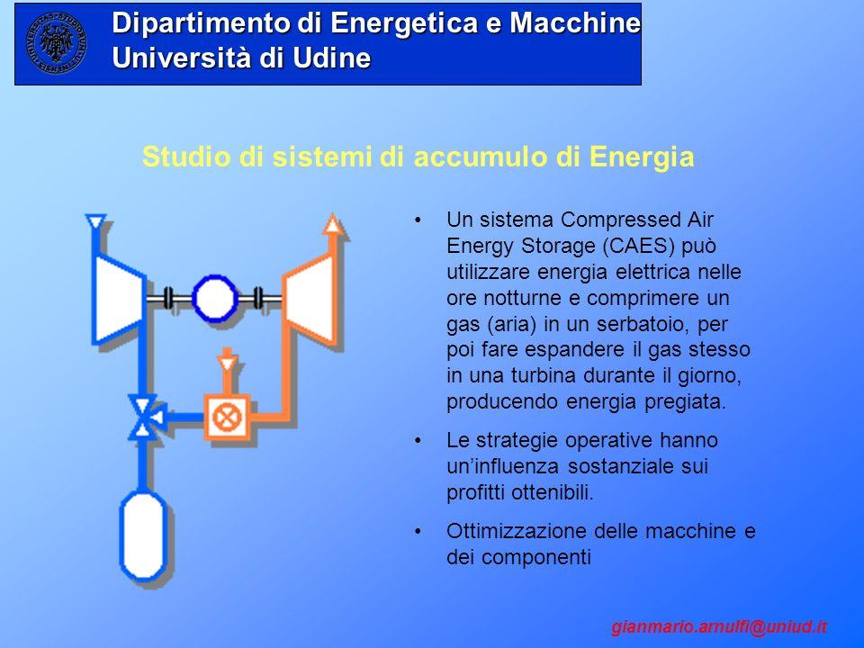 Studio di sistemi di accumulo di Energia