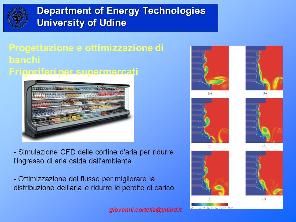 Department of Energy Technologies University of Udine