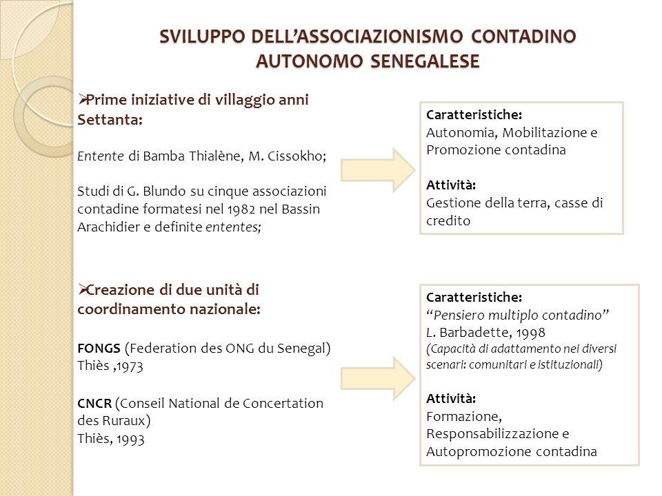 SVILUPPO DELL'ASSOCIAZIONISMO CONTADINO AUTONOMO SENEGALESE