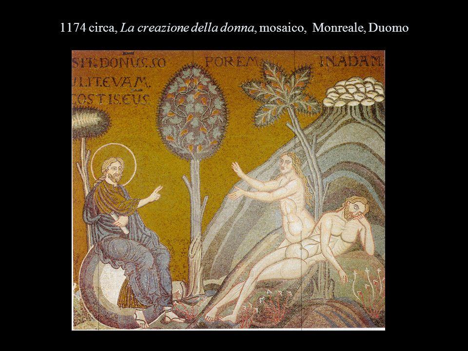 1174 circa, La creazione della donna, mosaico, Monreale, Duomo