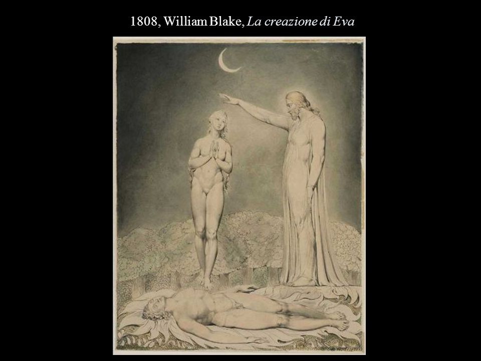 1808, William Blake, La creazione di Eva
