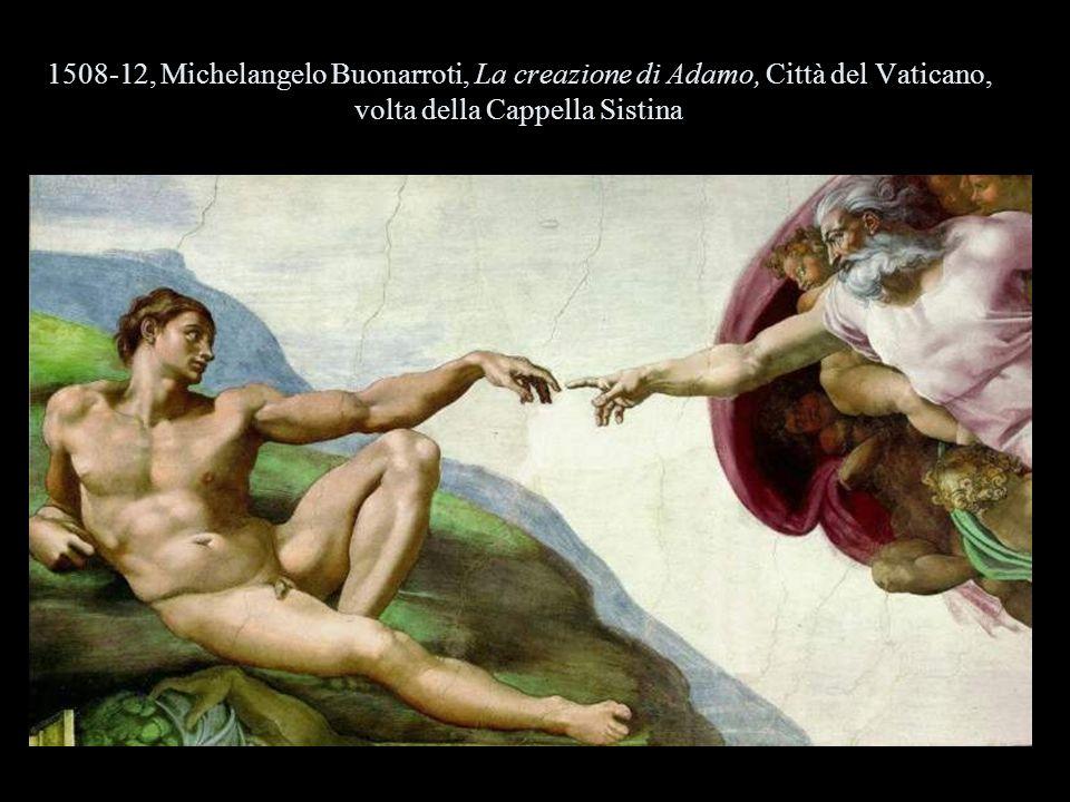 1508-12, Michelangelo Buonarroti, La creazione di Adamo, Città del Vaticano, volta della Cappella Sistina