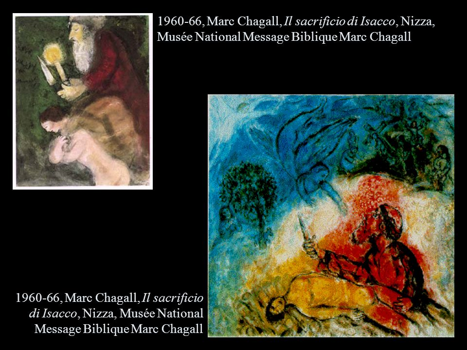 , Marc Chagall, Il sacrificio di Isacco, Nizza, Musée National Message Biblique Marc Chagall