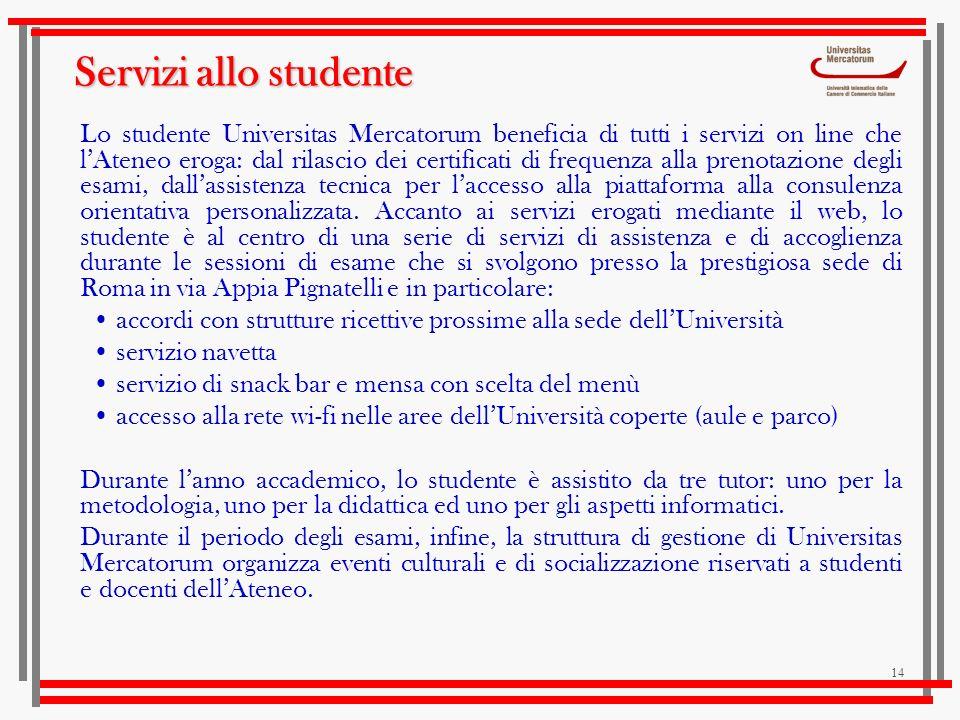 Servizi allo studente