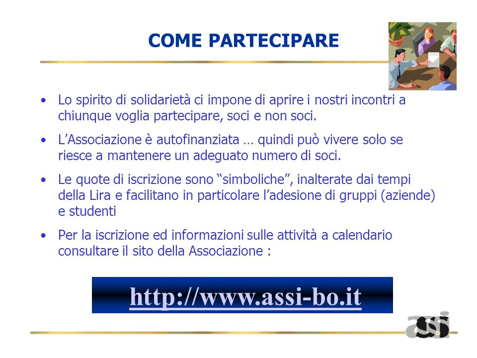 http://www.assi-bo.it COME PARTECIPARE