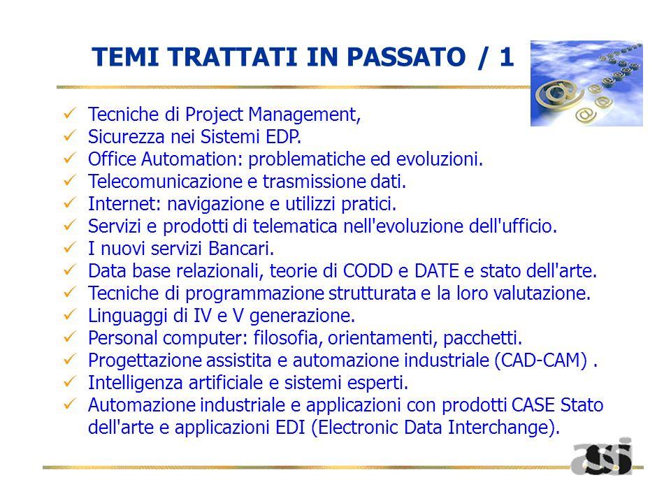 TEMI TRATTATI IN PASSATO / 1