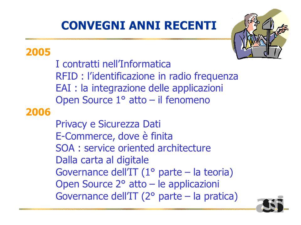 CONVEGNI ANNI RECENTI 2005 I contratti nell'Informatica