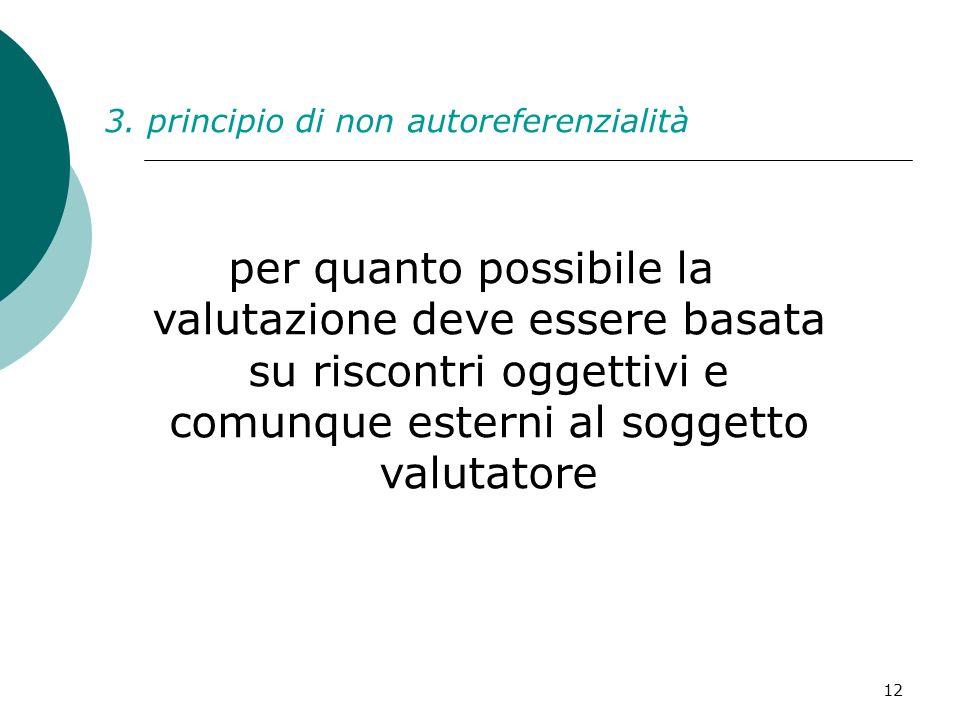 3. principio di non autoreferenzialità