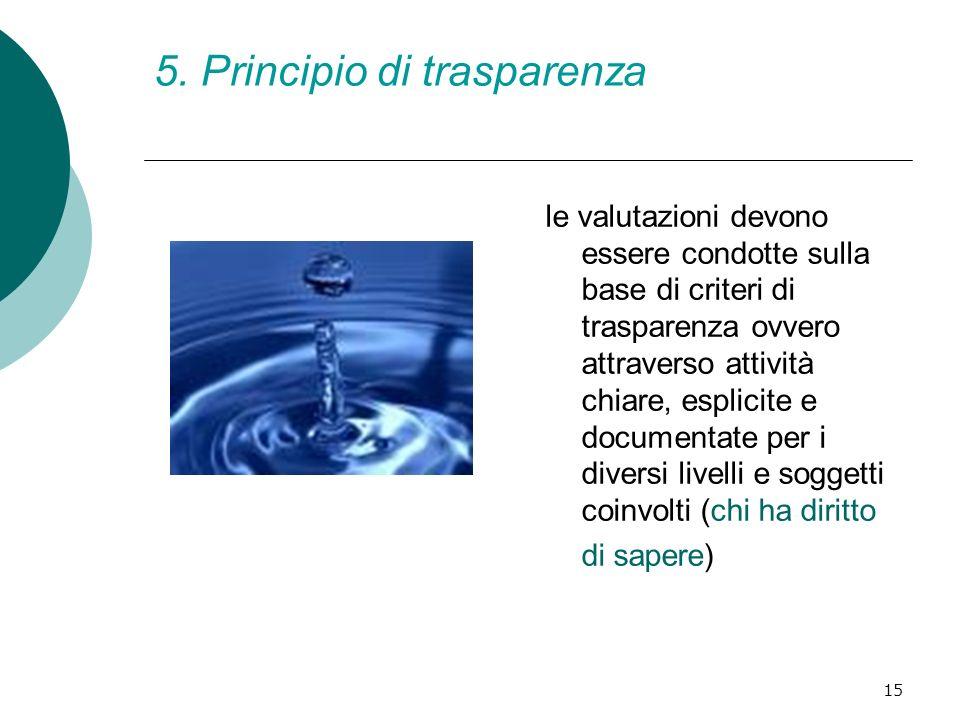 5. Principio di trasparenza