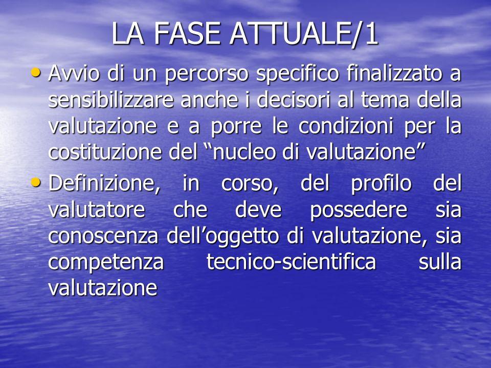 LA FASE ATTUALE/1