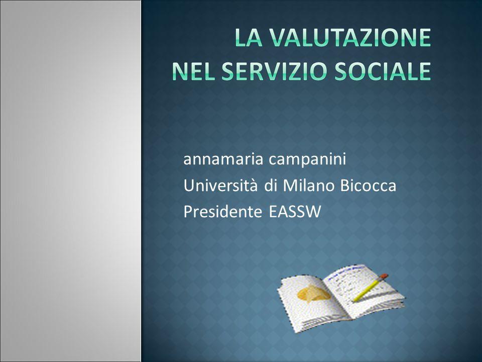 Università di Milano Bicocca Presidente EASSW