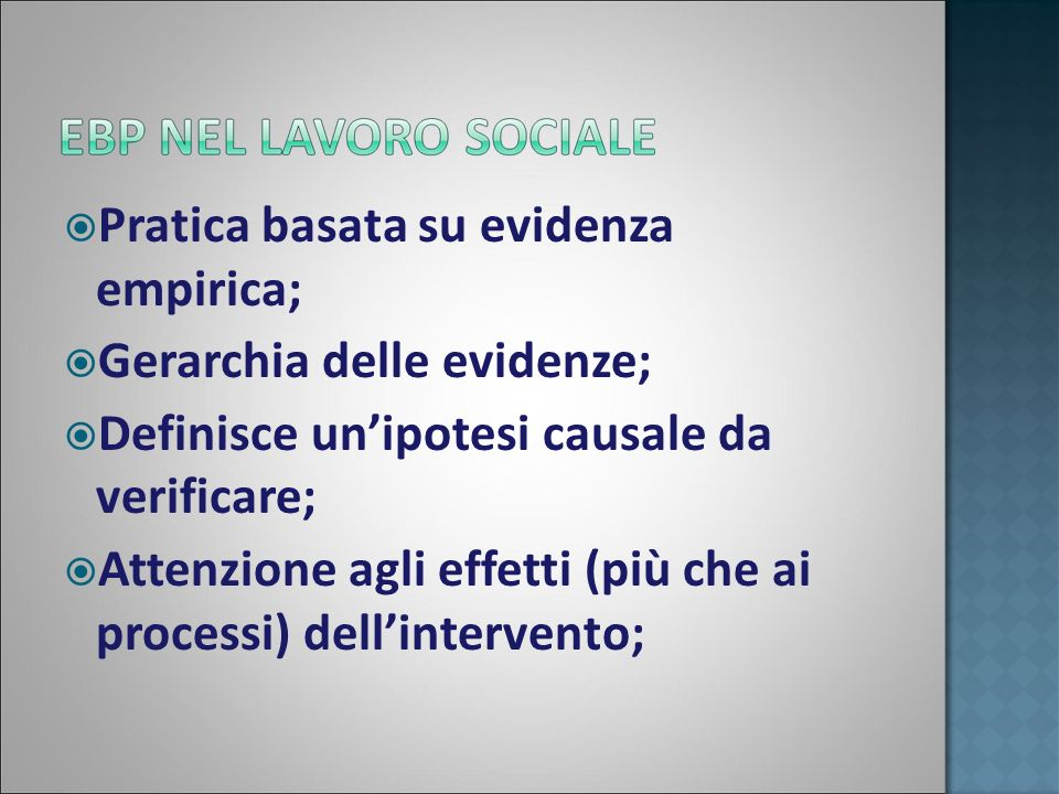 Pratica basata su evidenza empirica; Gerarchia delle evidenze;