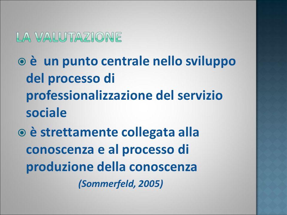 è un punto centrale nello sviluppo del processo di professionalizzazione del servizio sociale