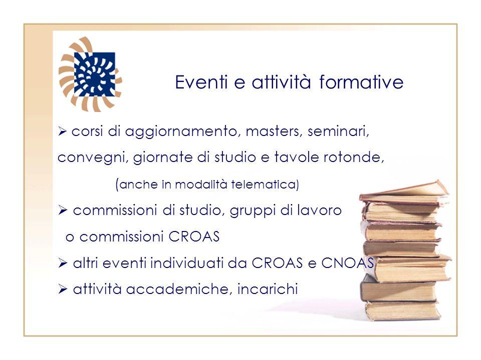 Eventi e attività formative