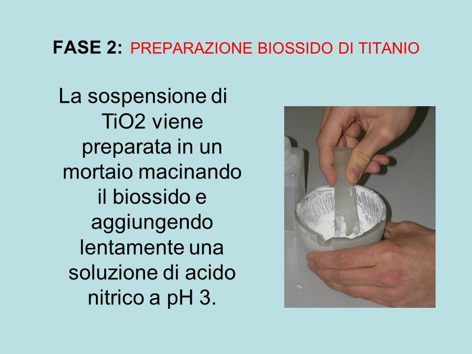 FASE 2: PREPARAZIONE BIOSSIDO DI TITANIO