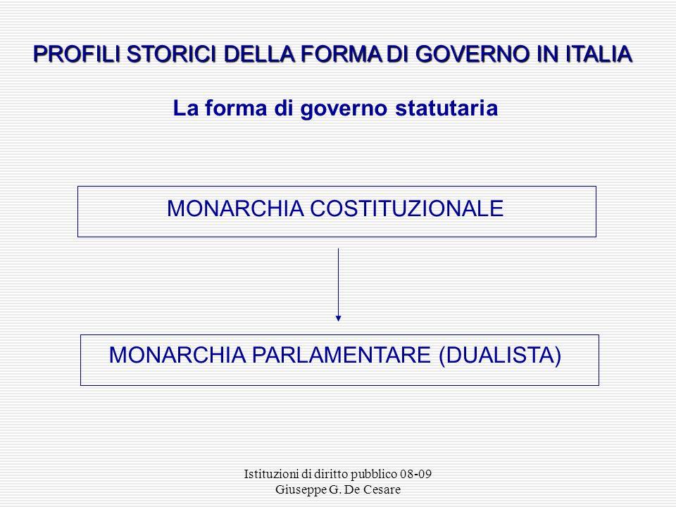 La forma di governo statutaria