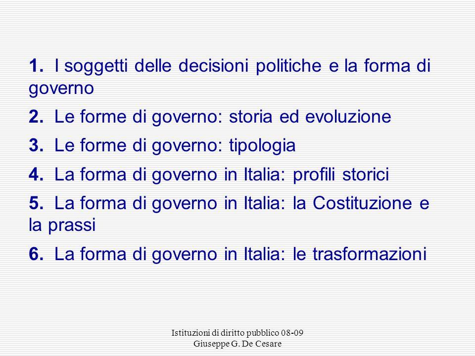 Istituzioni di diritto pubblico 08-09 Giuseppe G. De Cesare