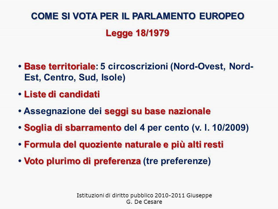 COME SI VOTA PER IL PARLAMENTO EUROPEO