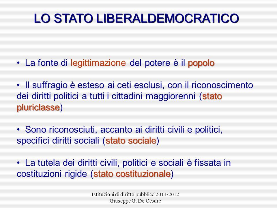 LO STATO LIBERALDEMOCRATICO