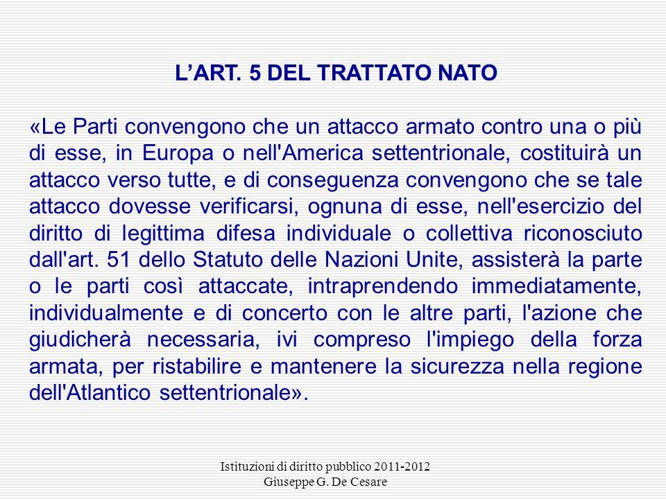 L'ART. 5 DEL TRATTATO NATO