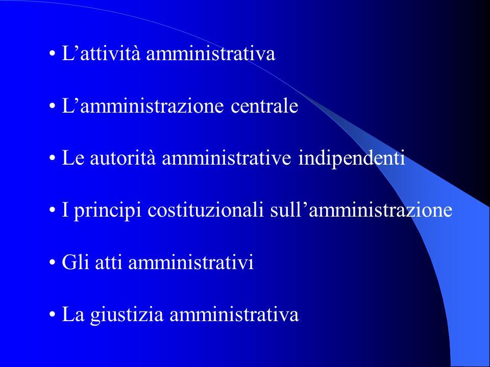 • L'attività amministrativa