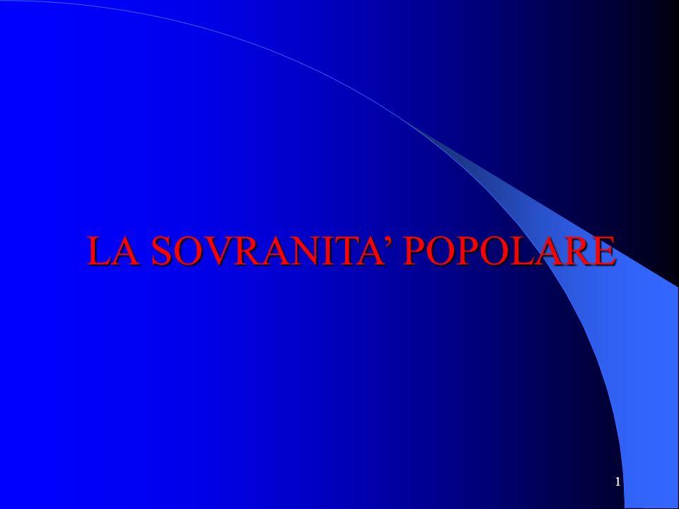 LA SOVRANITA' POPOLARE