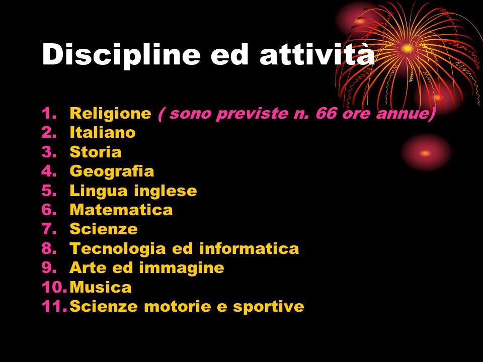 Discipline ed attività