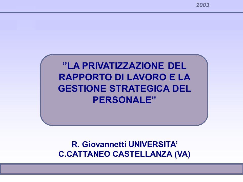 R. Giovannetti UNIVERSITA' C.CATTANEO CASTELLANZA (VA)
