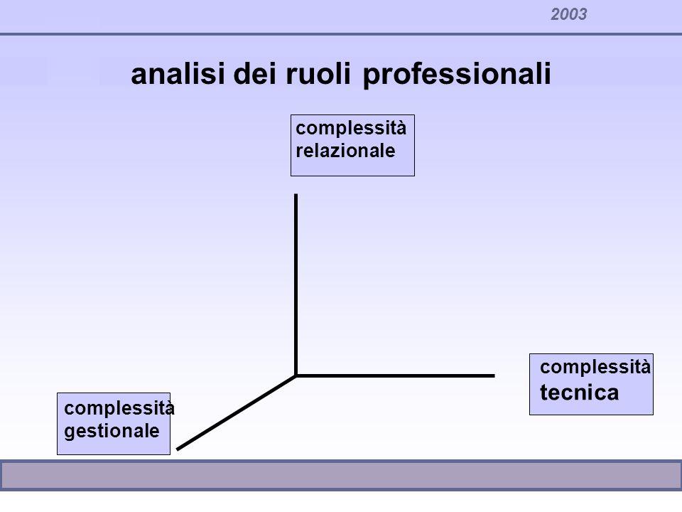 analisi dei ruoli professionali