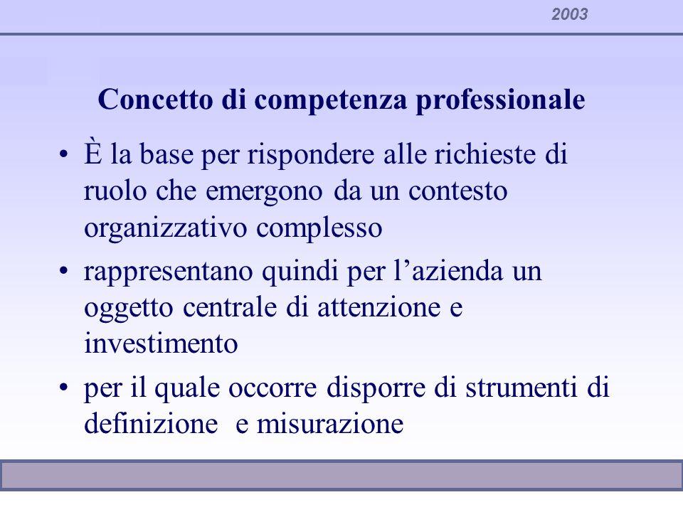 Concetto di competenza professionale