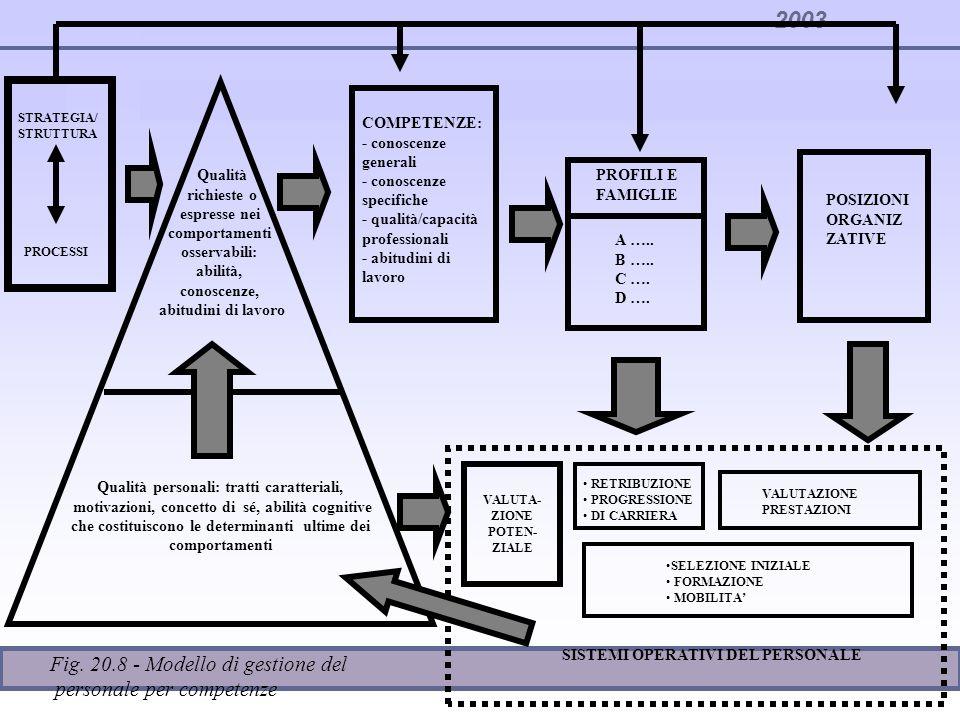 Fig. 20.8 - Modello di gestione del personale per competenze