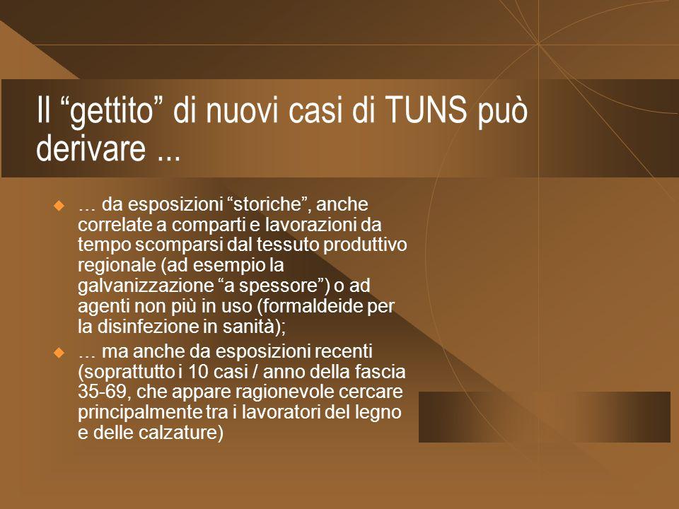 Il gettito di nuovi casi di TUNS può derivare ...