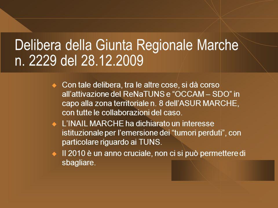 Delibera della Giunta Regionale Marche n. 2229 del 28.12.2009