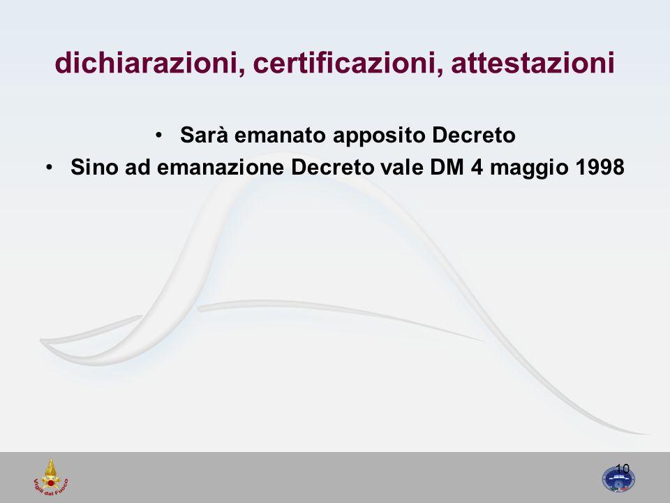 dichiarazioni, certificazioni, attestazioni