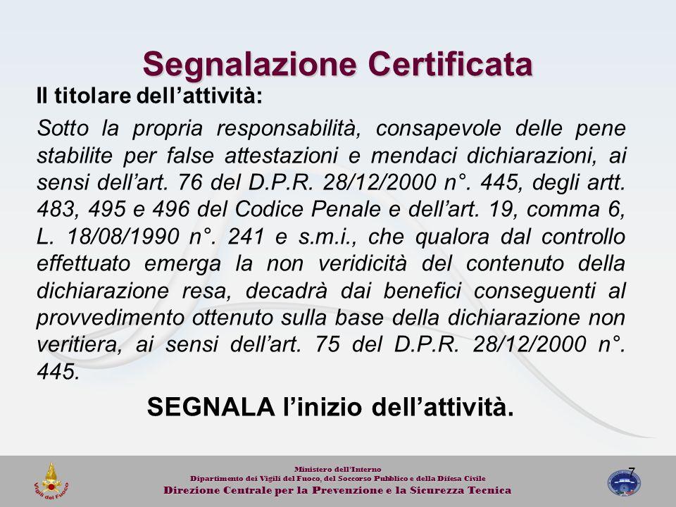 Segnalazione Certificata