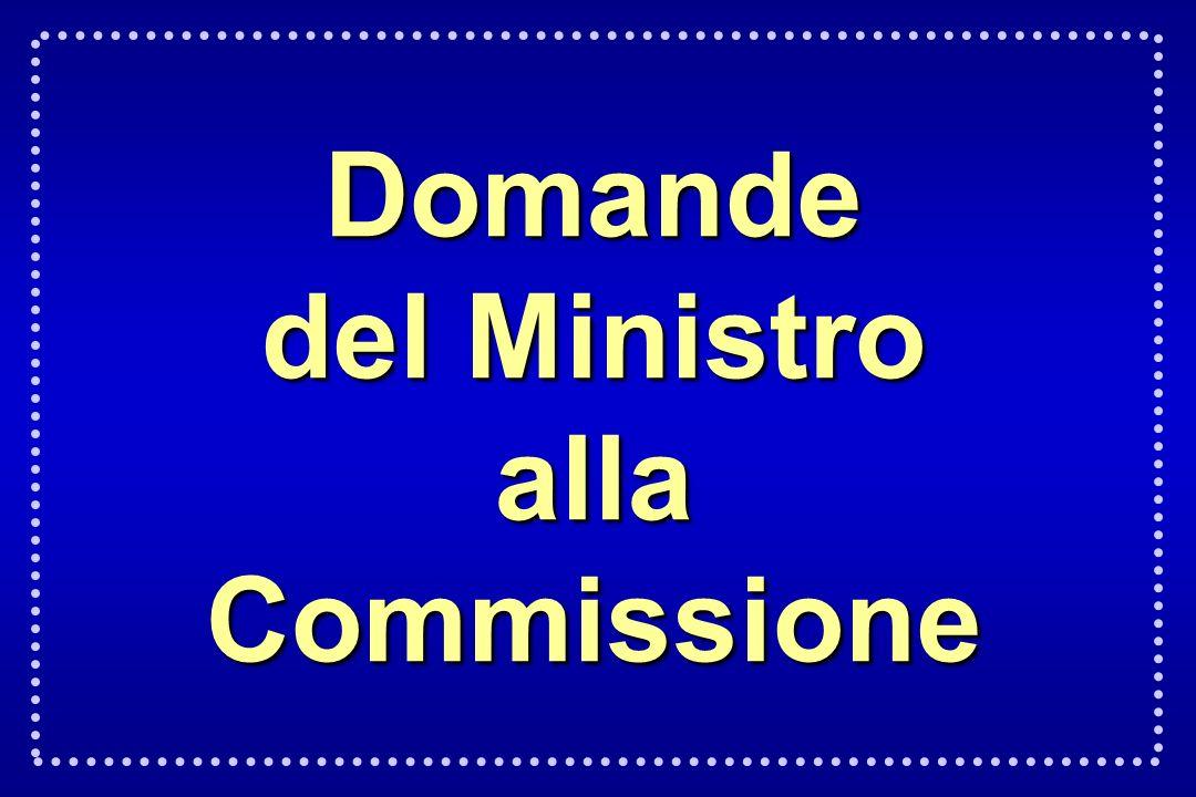 Domande del Ministro alla Commissione