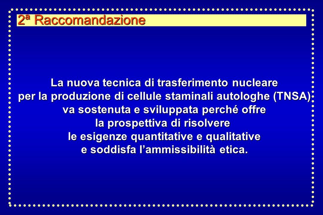 2ª Raccomandazione La nuova tecnica di trasferimento nucleare