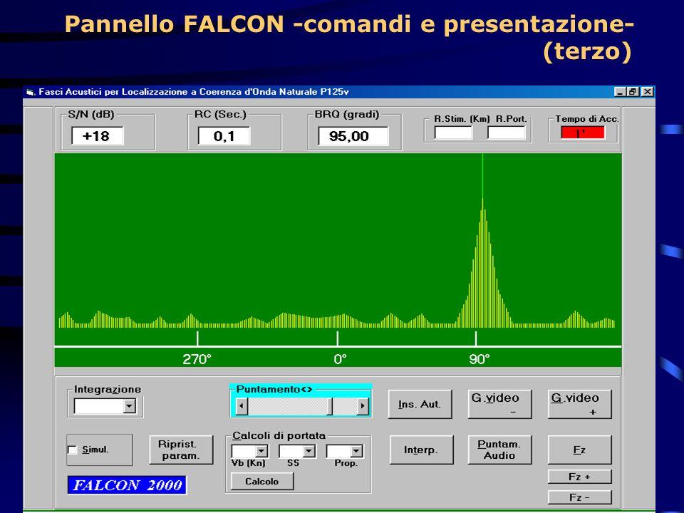 Pannello FALCON -comandi e presentazione-