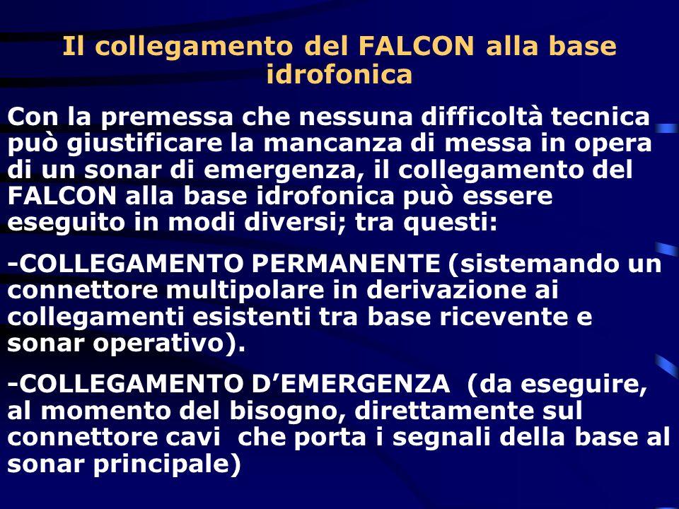 Il collegamento del FALCON alla base idrofonica